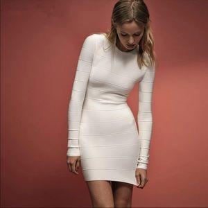 Bandage white dress long sleeve XS